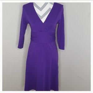 Patagonia Purple Faux Wrap Dress